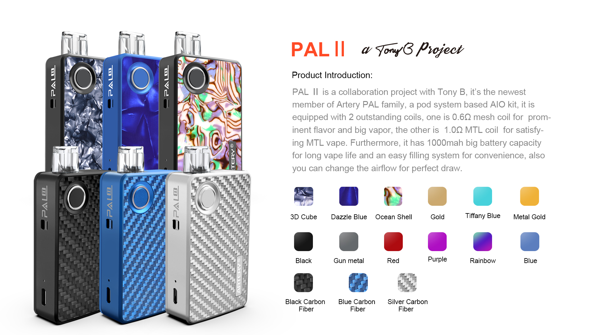 Pal 2 Kit Artery Built For Flavor Arteryvapor Electronic Cigarettes E Cigaretets E Cigs Vapes Mods Atomizer Wholesale Ecigs Manufacturer